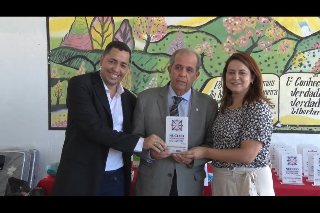 Celyrio Adamastor é homenageado pelo Núcleo Ressocializador da Capital